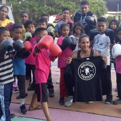 Workshop Kickboxing bersama adik-adik Study Group Heka Leka