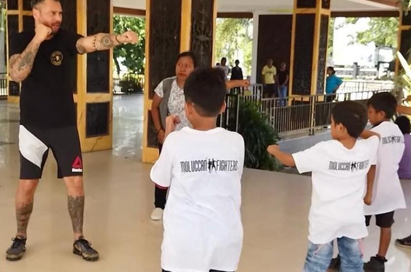 Kickboxing Class bersama Moluccan Fighters di Kota Ambon, Maluku.