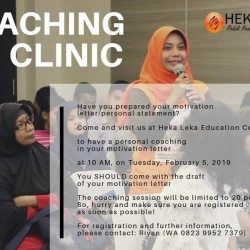 Scholarship Coaching Clinic.