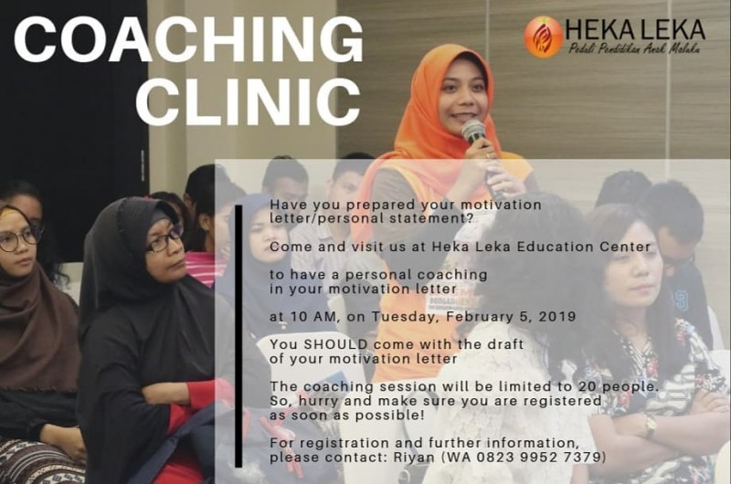 Scholarship Coaching Clinic.