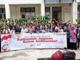 Relawan Olimpiade Sains Kuark Kota Ambon Tahun 2019.