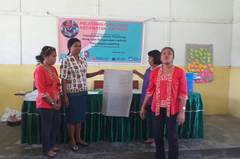 Early Childhood Education Teacher workshop which held in Saparua Island
