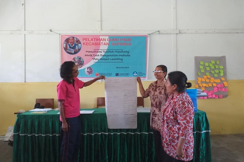 Early Childhood Education Teacher workshop which held in Saparua Island